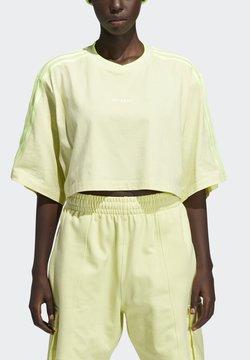 adidas Originals - IVY PARK CROP - T-shirt print - yellow tint