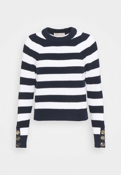 MICHAEL Michael Kors - BUTTON CUFF  - Strickpullover - dark blue