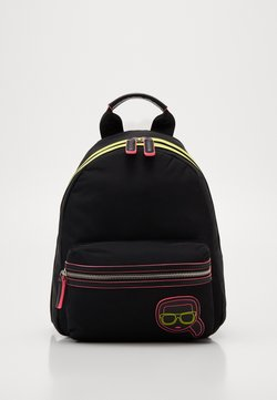 KARL LAGERFELD - IKONIK NEON BACKPACK - Plecak - black