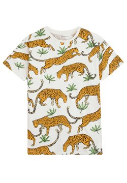 The Striped Cat - TROPICAL LEOPARD - T-Shirt print - off-white