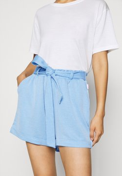 TOM TAILOR DENIM - STRIPED  - Shorts - blue/white