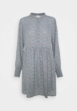 JDY - JDYCARMEN SHORT DRESS - Blusenkleid - citadel/copper brown