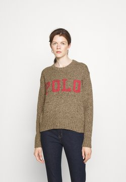Polo Ralph Lauren - DONEGAL - Sweter - tan/pink multi