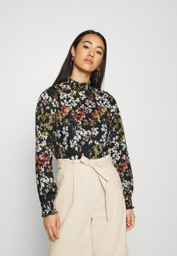 ONLY - ONLZILLE DETAIL SMOCK - Blouse - night sky/blooming flower