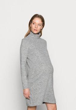 Pieces Maternity - PCMPAM HIGH NECK DRESS - Sukienka dzianinowa - light grey melange