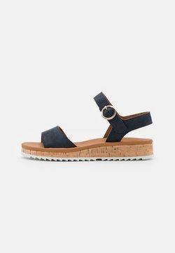 Paul Green - Korkeakorkoiset sandaalit - blau