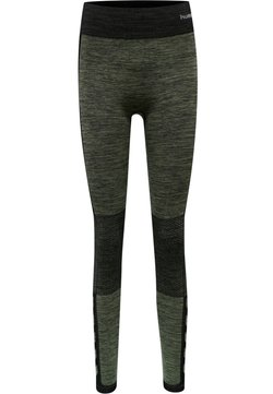Hummel - HMLCLEA  - Tights - black/vetiver melange