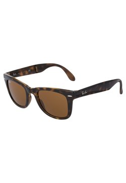 Ray-Ban - 0RB4105 FOLDING WAYFARER - Aurinkolasit - black/brown