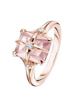 THOMAS SABO - RING 925 STERLINGSILBER, 750 ROSÉGOLD VERGOLDUNG - Ring - pink, weiß, silberfarben