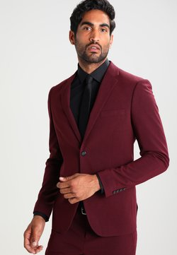 Lindbergh - PLAIN MENS SUIT - Costume - bordeaux melange