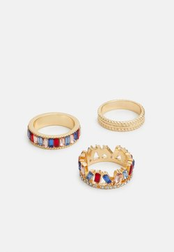 Pieces - PCFENNY 3 PACK - Anillo - gold-coloured