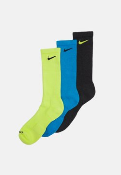 Nike Performance - EVERYDAY PLUS CUSH CREW 3 PACK UNISEX - Calcetines de deporte - cyber)/laser blue/black heather