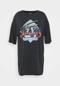 Tommy Jeans Curve - VINTAGE TEE DRESS - Trikoomekko - black