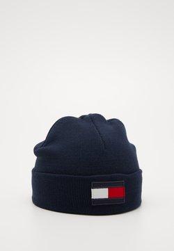 Tommy Hilfiger - BIG FLAG BEANIE - Mütze - blue