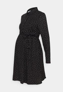 New Look Maternity - SPOT DRESS - Jerseykjole - black/white