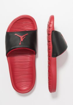 Jordan - BREAK SLIDE - Badslippers - black/gym red
