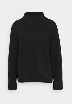 Marc O'Polo PURE - BOXY LONG SLEEVE RAGLAN CROPPED LENGTH - Strickpullover - pure black