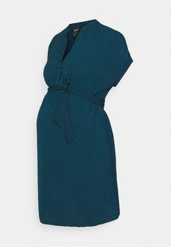New Look Maternity - MARA OHEAD BELTED TUNIC - Bluse - dark blue