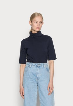 edc by Esprit - ELA ROLL NECK SHORT - T-shirt - bas - navy