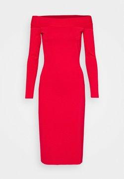 Victoria Beckham - COMPACT SHINE BARDOT FITTED DRESS - Sukienka etui - red
