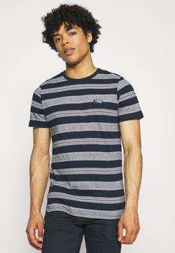 Jack & Jones - JCOFLAME TEE CREW NECK - T-Shirt print - navy blazer