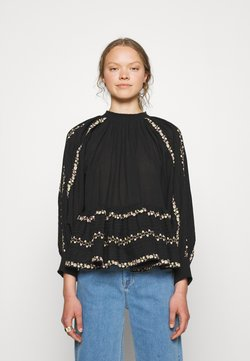 byTiMo - EMBROIDERY - Bluse - black
