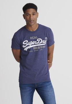Superdry - PREMIUM GOODS HEAT SEALED TEE - T-shirt imprimé - blue marl