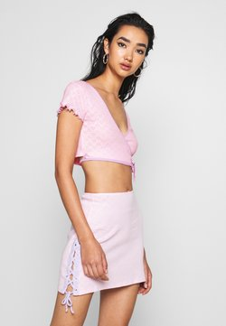 Jaded London - HEART CUT OUT WRAP  - Printtipaita - pink