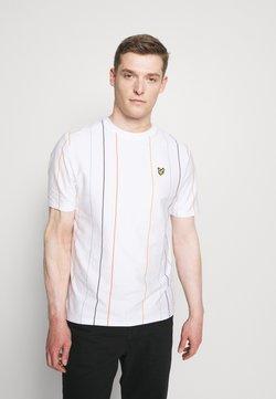 Lyle & Scott - VERTICAL STRIPE - T-Shirt print - white