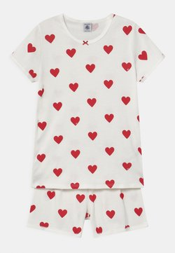 Petit Bateau - HEART PRINT  - Pyjama - marshmallow/terkuit