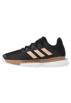 adidas Performance - SOLEMATCH BOUNCE - Zapatillas de tenis para todas las superficies - core black/copper metallic/footwear white