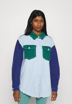 Missguided - FRAYED COLOURBLOCK  - Overhemdblouse - green