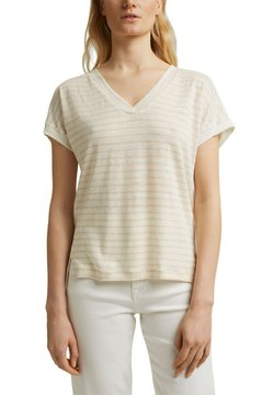 Esprit Collection - MIT STREIFEN - T-Shirt print - cream beige