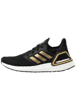 adidas Performance - ULTRABOOST 20 PRIMEKNIT RUNNING SHOES - Laufschuh Neutral - core black/gold metallic/solar red
