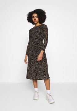 Dorothy Perkins Petite - PETITES SPOT THICK AND THIN DRESS - Vestido informal - black