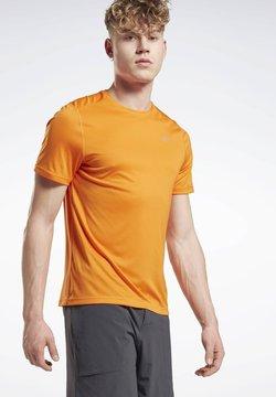 Reebok - NIGHT RUN SHIRT - Camiseta básica - orange