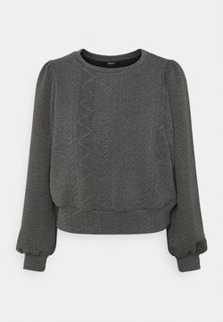 ONLY - ONLCABLE O-NECK - Maglietta a manica lunga - dark grey melange