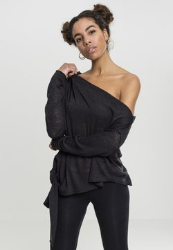 Urban Classics - LADIES ASYMMETRIC - Strickpullover - black