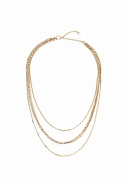 Topshop - DAINTY CUPCHAIN MULTIROW - Necklace - gold-coloured