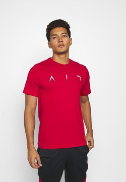 Jordan - JUMPMAN AIR CREW - Printtipaita - gym red/white