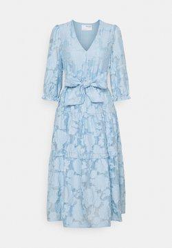 Selected Femme - SLFSADIE MIDI DRESS - Freizeitkleid - cashmere blue