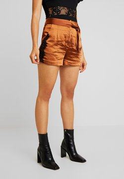 Lost Ink - SHORTS WITH TRIM - Shorts - rust