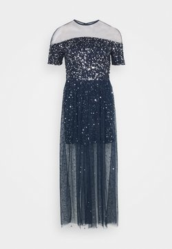 Maya Deluxe - ALL OVER EMBELLISHED MAXI DRESS WITH MINI LINING - Vestido de fiesta - navy