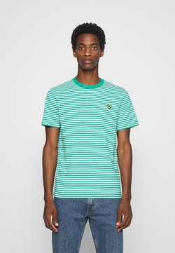 Lyle & Scott - 2 COLOUR STRIPE - T-shirt print - green/white