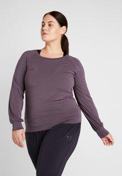 YOGA CURVES - BOAT NECK - Camiseta de manga larga - aubergine