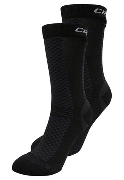 Craft - WARM MID 2 PACK - Calcetines de deporte - black/white