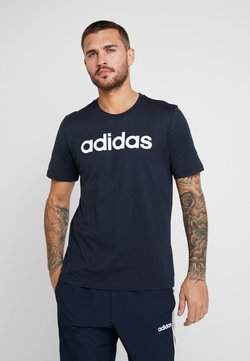 adidas Performance - LIN TEE - Camiseta estampada - ink/white