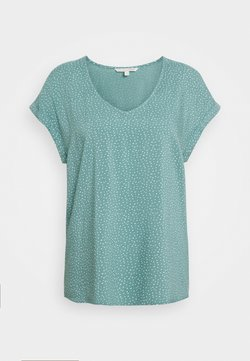 TOM TAILOR DENIM - PRINTED SPORTY BLOUSE - Bluse - mint/white