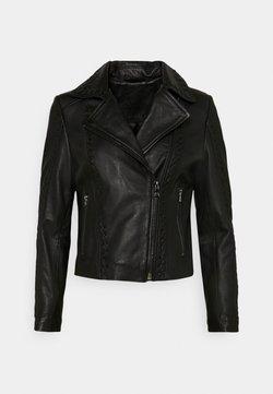Ibana - BLUTO - Leather jacket - black