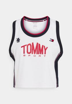 Tommy Hilfiger - CROP TANK - Tekninen urheilupaita - ivory
